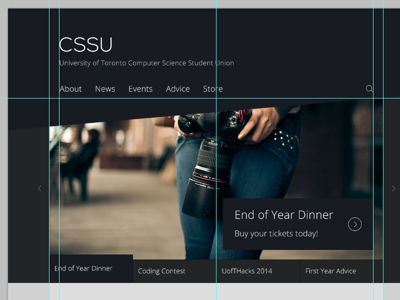 CSSU website school flat design