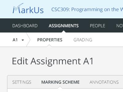 MarkUs navigation
