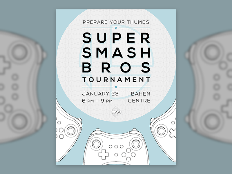 Event poster graphic design print