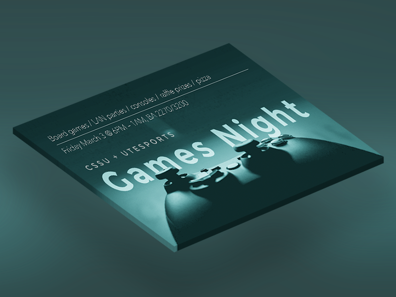 Games Night photoshop event banner