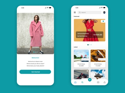Wears Hub - Where you find wearables user usercentred userinterface uidesignchallenge designthinking uidesignpatterns wearables clothes ecommerce uiux design uiuxdesigner uiuxdesign uxdesign uiux uidesigns uidesign app ux ui design
