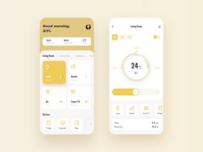 Smart home app concept uidesign