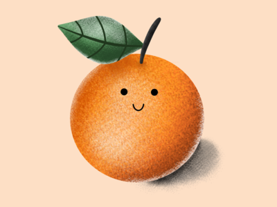 The happy orange