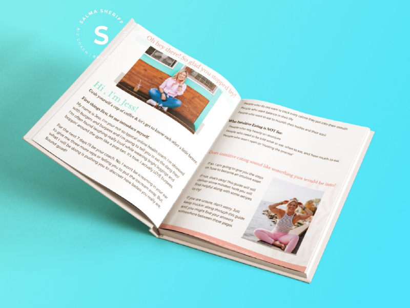 E-book design color palette modern ui design ux design sport fitness indesign illustrator minimal clean brand identity branding logo book design book e-book design e-book