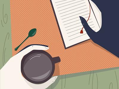 Hands minimalist minimalism spoon book coffee shop coffee cup coffe hands hand illustrator figure logo figurative branding creativity vector photoshop illustration design creative  design