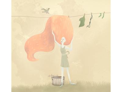 Windy hair