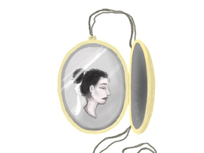 Memories history oldschool story golden reflection memory memories necklace photoshop illustration girl girl illustration girl character figure drawing figure figurative design creativity creative  design animation
