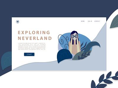 Exploring Neverland - design page explore landingpage landing page website design user interface webdesign website web app icon vector logo creativity illustration design uxdesign uidesign ux ui creative  design