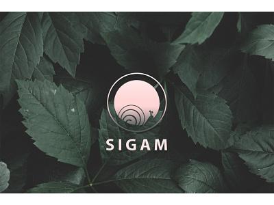 Sigam logo logotype logodesign snail graphic design photoshop illustraion creative  design creative design flat web app ux ui icon typography branding vector logo