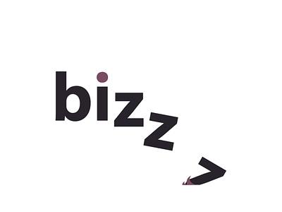 bizzz illustrator blackletter blackandwhite falling icon logo ux ui typography branding vector flat animation photoshop illustration design creativity creative  design
