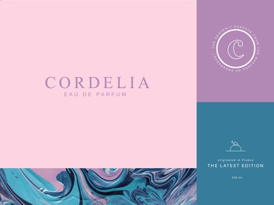Cordelia branding creative design graphicdesign pink advertising perfumes parfume ux icon ui logo illustration creativity vector creative  design badge typogaphy idenity brand identity branding