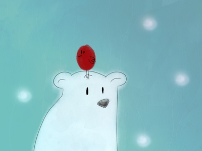 Friends of cold days snow red blue bear bird illustration bird polarbear characters character animation characterdesign character vector figurative animation design creativity creative  design figure photoshop illustration