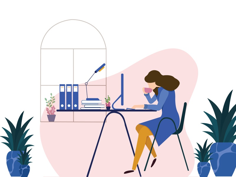 Working Girl concept art character design illustrator graphic design adobe illustrator vector illustration design character
