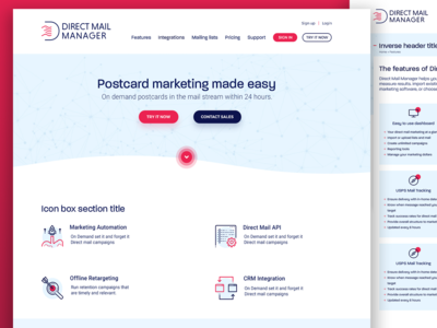Direct Mail Manager re-design