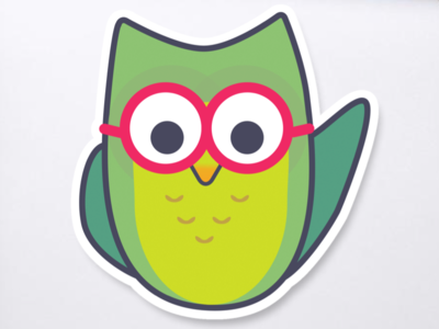 Hoot - mascot illustration for Springboard hoot springboard owl