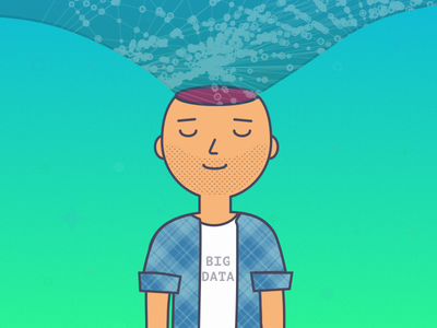 Feeling overwhelmed - Data Scientist illustration big data data science springboard
