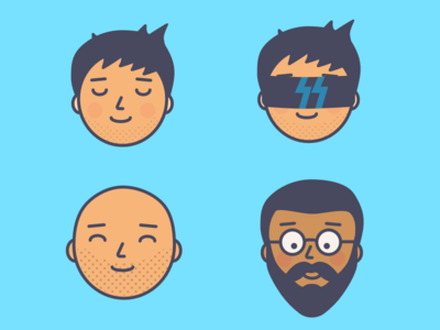 Face icons illustration face