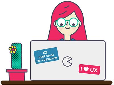 Keep calm,  I'm a designer! - UX Designer Illustration design user experience student ux springboard