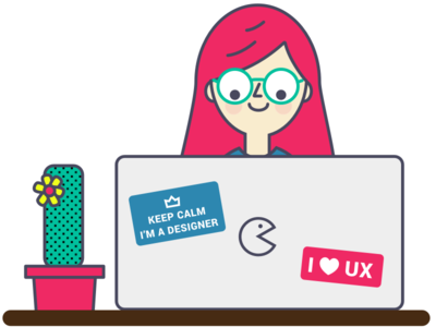 Keep calm,  I'm a designer! - UX Designer Illustration design user experience student ux springboard