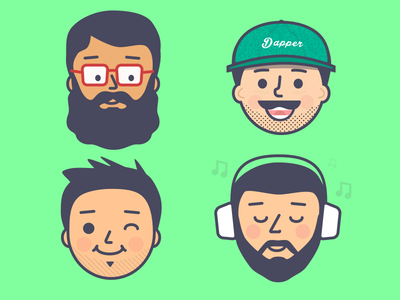 Faces - character illustrations illustration face