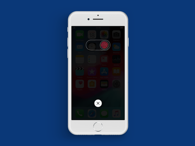 "DailyUI015 Privacy "" Shutdown"" switch button dailyui015 ui affinity vector illustration design"