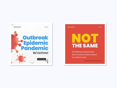 Outbreak Epidemic Pandemic - Coronavirus illustration minimal animation carousel instagram covid19 coronavirus corona