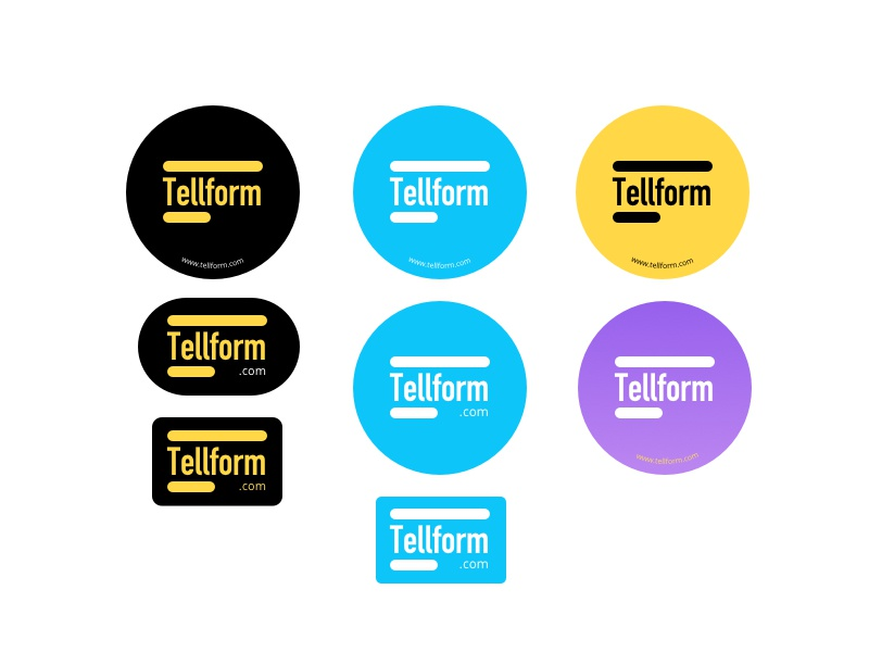 Stickers logo forms tellform stickers