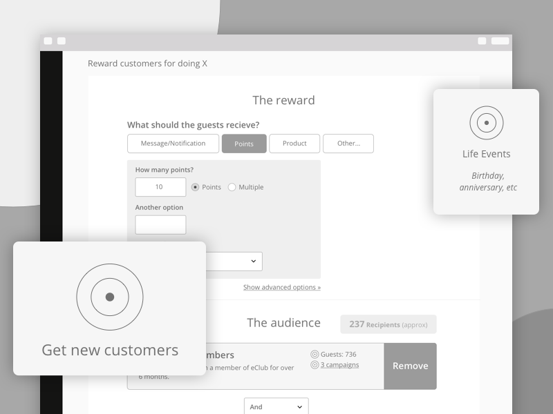 Punchh Dashboard minimal b2b dashboard mockups wireframes