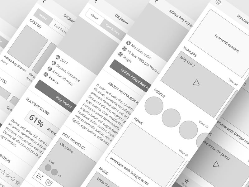 New case study is live! iphone app ios app wireframes portfolio case study flickbay
