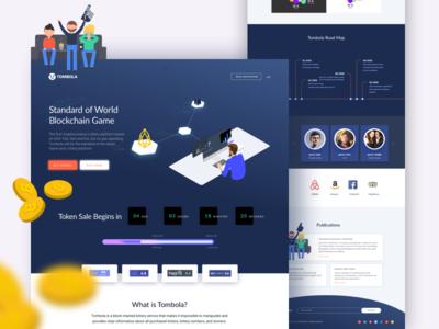Blockchain Game Landing Page