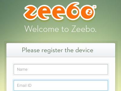 Registration  screen register input