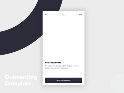 Onboarding complete 🚀 cards ae illustration app design india ux animation minimal