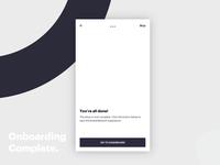 Onboarding complete 🚀