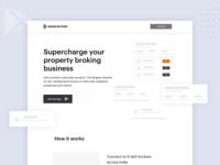 BrokerNetwork Landing Page Wireframe