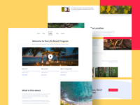 One of the design explorations for the program retreat yoga visual design landing page ux typography ui landing design india minimal