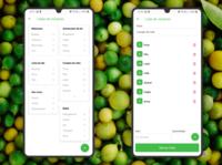 Visual Green App Shopping List