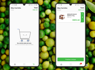 Visual Green App Shopping Cart
