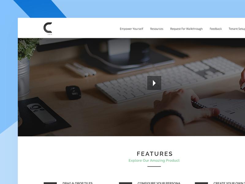 Core concept design adobe photoshop website design