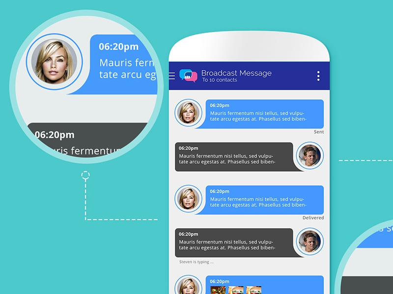 Twale Chat App mobile app illustrator photoshop graphic ecommerce android app