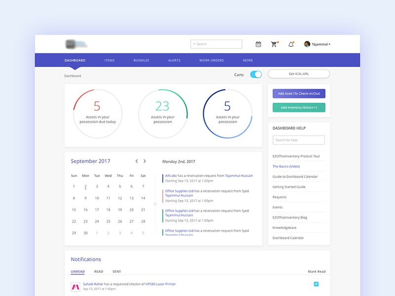Rental Service Admin Dashboard Design visual design sketch clean design rental dashboard admin