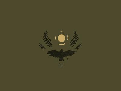 Osprey silhouette pacificnorthwest bandana pattern illustration linocut