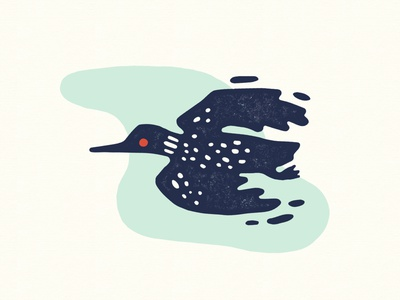 Stop Line 3 - Loon stopline3 bird loon mississippi illustration