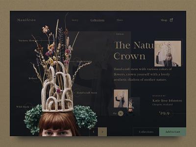 Visual Diary - Exploration beautiful inspiration crown creative designer design webdesign uiux ux art