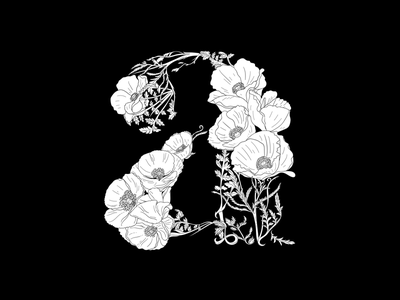 Amapola flower plants letter lettering a type font designer art vector design illustrator illustration wip