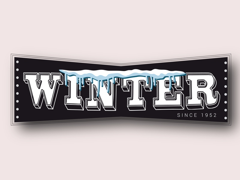 Winter logo by Humayun ux app illustrator winter type vector animation web art icon typography illustration logo identity graphic design design flat branding brand abstract