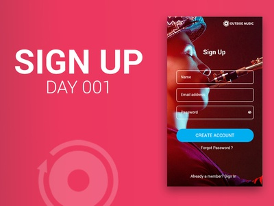 Sign Up UI / Daily Ui day 1 abstract website illustration web icon brand logo ui design daily 100 challenge dailyui typography design graphic design mobile app mobile design mobile ui signup ux branding ui