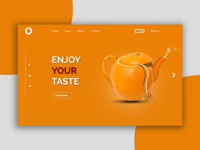 Orange Web Header