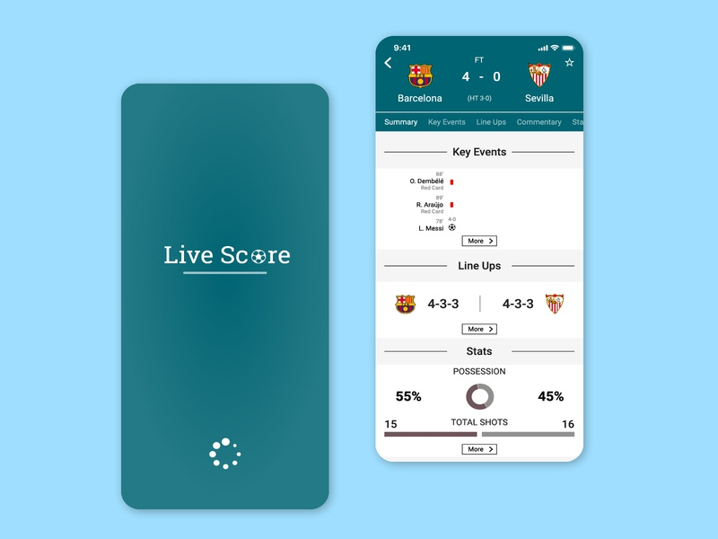 Live Score App UI vector graphic design ux typography app website illustration mobile app ui football app mobile ui mobile app development mobile app design deisgn