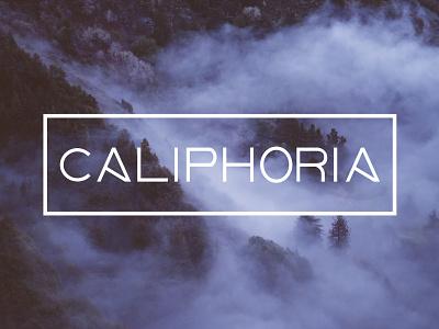 Caliphoria simple modern cannabis branding flat vector typography logo design brand identity cannabis california branding