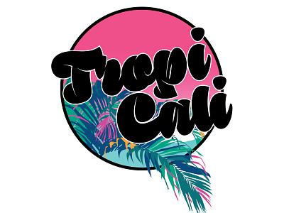Tropicali Logo - Vice identity flat illustrator minimal lettering branding type vector illustration design typography logo